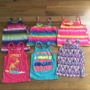The Children's Place Set Of 6 Tank Tops Girls 5/6